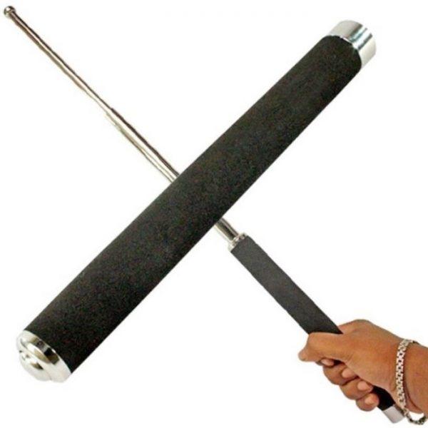 Retractable Self Defense Police Telescopic Folding Stick, Self Defense Women Security 26 Inch Rod, Three Sections Retractable Unisex Portable Telescopic Stick