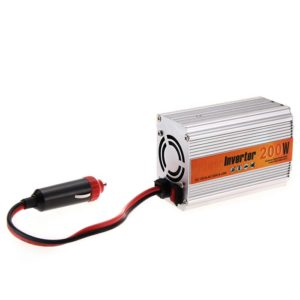 200 Watt Car Auto Converter/ Inverter 12V DC to 220V AC + USB 5V For For Home, Car, School Bus DVR Camera, Solar Panel, Color TV, Mobile Charger, CFL