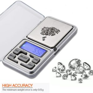 200g Digital Display Mini Pocket Weight Scale, Portable Measurement Weighing Machine, Precision Digital LED Pocket Jewelry Scale