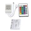 24 Key IR Infrared Controller 12V DC For 3528/ 5050 RGB LED Strip Light, 12V DC 6 Amp
