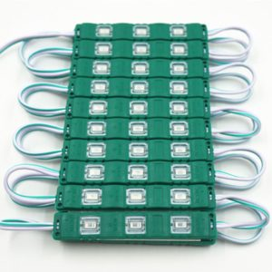 Green 3 LED Module, DC 12V Waterproof Module Lens High Glow Light Strip 5630/ 5730 LED, Injection LED Module, SMD Module Decorative Light Lamp With Pasting Tape