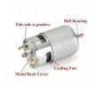 12V RS 775 High Torque DC 12V Multipurpose Brushed Motor, Bigger Motor, 7000 RPM