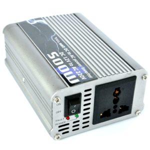 500 Watt Car Auto Converter/ Inverter 12V DC to 220V AC + USB 5V For For Home, Car, School Bus DVR Camera, Solar Panel, Color TV, Mobile Charger, CFL