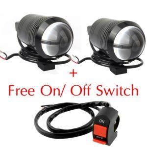 "U1 CREE LED 3 Mode Light (3"" Length) Motorcycle Bike Light Headlight Driving Fog Spot Lamp For Royal Enfield & All Bikes"