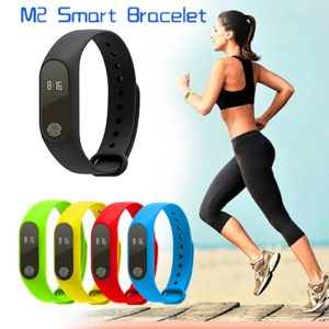 M2 Bluetooth Health Smart Band Fitness Tracker Heart Rate Sensor Smart Bracelet, Water Proof Smart Fitness M2 Band Compatible Bluetooth/ Heart Sensor