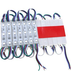 RGB 3 LED Module, DC 12V Waterproof Module High Glow Light Strip 5050 LED, Injection LED Module, SMD Module Decorative Light Lamp With Pasting Tape
