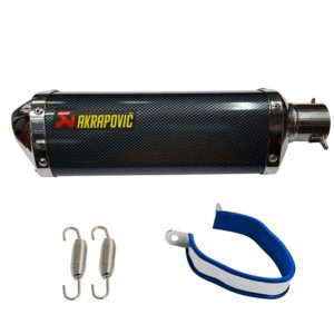 Universal AKRAPOVIC Sticker Triangle Carbon Racing Exhaust Silencer For All Bikes KTM DUKE