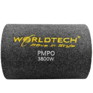 WORLDTECH 3800W PMPO WT-BT1400 Car Bass Tube With 10 Inch SubWoofer Built-in Amplifier