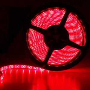 Red 5 Meter SMD 3528 LED Flexible Strip Tape 300 LED Light For Home Decor, Automobile, Indoor & Outdoor Lighting Rope + Free 12 Volt DC LED Driver