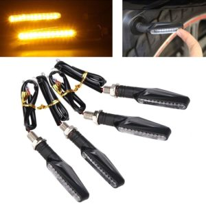 Yellow/ Amber Universal Bike Motorcycle 9 LED Turn Signal Indicators Light Lamp For All Indian Bikes
