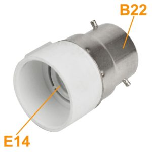 B22 Male to E14 Female Bulb, LED, Halogen, CFL Light Base Bulb Lamp Adapter Converter Socket Holder