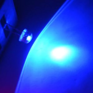 Blue Super Bright 8mm Straw Hat 0.5W, 8 mm LED Light Emitting Diodes Lamp LEDs for DIY Projects