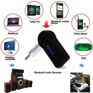 Car Bluetooth Audio Receiver Stereo Music Adapter With Mic & AUX 3.5 Mm Stereo Inlet Socket