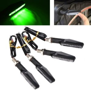 Green Universal Bike Motorcycle 9 LED Turn Signal Indicators Light Lamp For All Indian Bikes