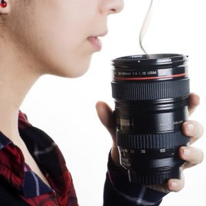 New Camera Lens ESF 28-135mm Travel Mug Coffee Tea Stainless Thermos Cup Big Size