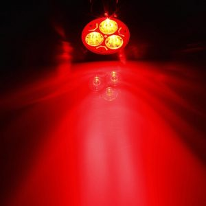 Red 3 Watt LED Spotlight Bulb, 220V AC, B22 Lamp Bulb, 3W LED Bulb for Home & Commercial Use
