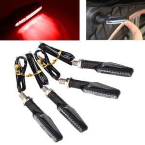 Red Universal Bike Motorcycle 9 LED Turn Signal Indicators Light Lamp For All Indian Bikes