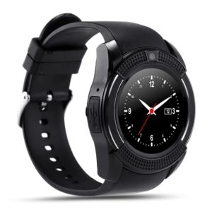 V8 Round Dial Bluetooth Smartwatch Phones For Android, Bluetooth Wrist Watch, Camera, Pedometer With Sim Card & Memory Slot