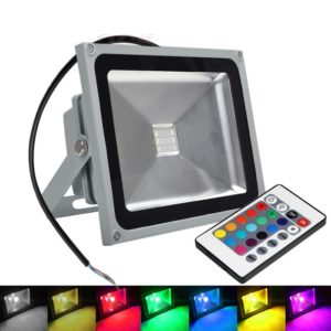 Waterproof RGB 20W LED Flood Light AC 110-264V Spotlight For Indoor & Outdoor Use
