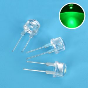 Green Super Bright 8mm Straw Hat 0.5W, 8 mm LED Light Emitting Diodes Lamp LEDs for DIY Projects