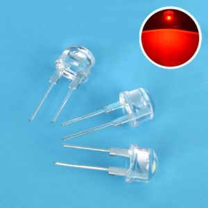Red Super Bright 8mm Straw Hat 0.5W, 8 mm LED Light Emitting Diodes Lamp LEDs for DIY Projects