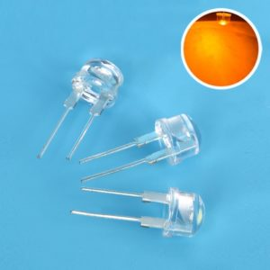Yellow/ Amber Super Bright 8mm Straw Hat 0.5W, 8 mm LED Light Emitting Diodes Lamp LEDs for DIY Projects