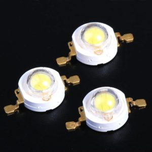 1 Watt SMD LED Pure White High Power 120LM LED Lamp Bulb, Ultra Bright 1W SMD LED
