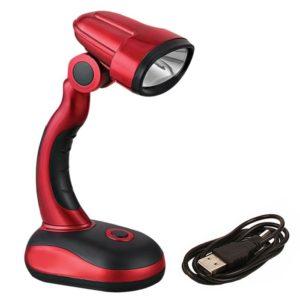 Compact Desk Lamp USB & Battery Powered Metallic COB Desk Lamp, Adjustable Neck Study Desk Lamp - HG-BL009