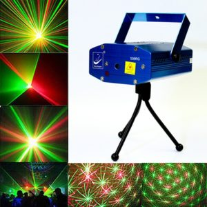 Mini Green & Red DJ Laser Stage Lighting Light For Diwali, Christmas, Club, Bar, Disco Party Club, Green & Red Bar Laser Show