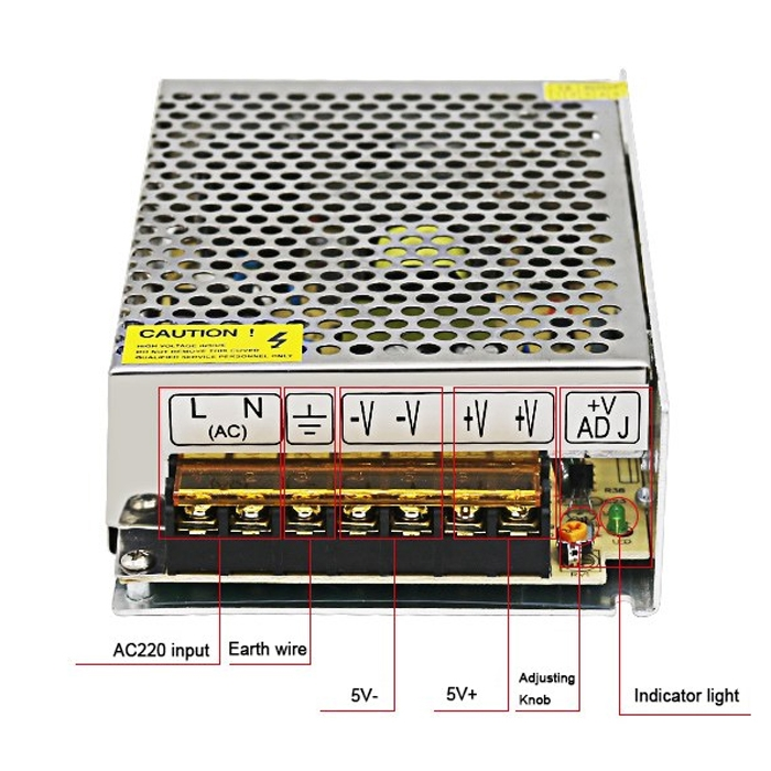 5 Volt 10 Amp, 50W SMPS/ 5V 10A Power Supply, SMPS, Driver, Switch ...