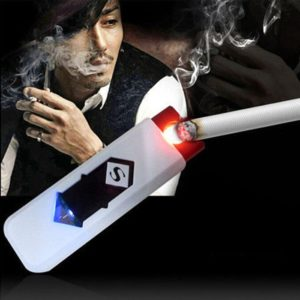Safety USB Electronic Rechargeable Flame-Less Cigar Cigarette Lighter, Windproof Camping Rechargeable USB Lighter
