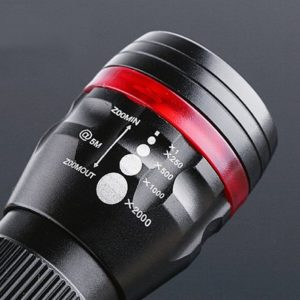 3 Mode LED Torch Adjustable Focus CREE Clip Zoom Torch LED Flashlight 200 LUMEN