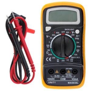 UNITY MAS830L Digital Handheld Multi Meter Multi-Tester White/ Blue Back-Light LCD