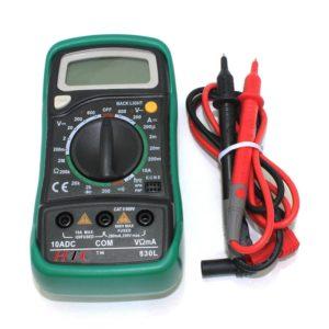 HTC 830L Handheld Digital Multi Meter With LCD Back Light, Voltmeter Ammeter AC/DC/OHM Volt Current Tester