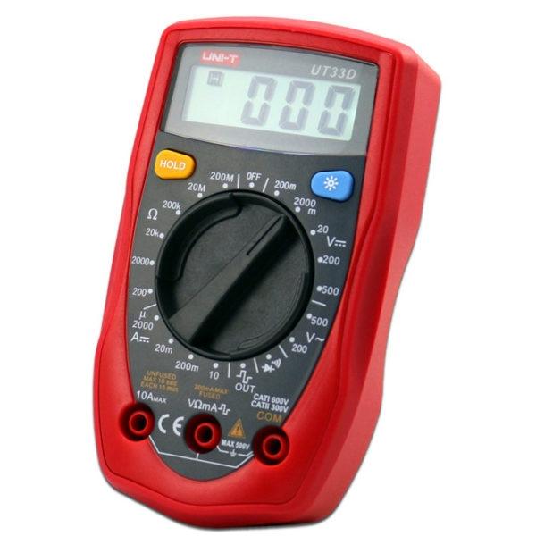 UNI-T UT-33D Digital Multimeter, Palm Size Digital Electrical Multi-Meters 2000µA-10A