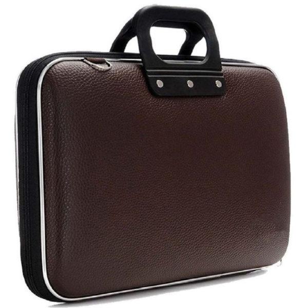 "Universal 15 Inch Colorful Stylish Slim Laptop Bag 15"" Laptop/ Macbook/ Notebook Carrying Briefcase, Black/ Dark Brown"